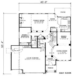 2672 sq ft. 2nd storey bedrooms. House Plan chp-30331 at COOLhouseplans.com
