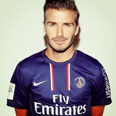 Beckham in his PSG days