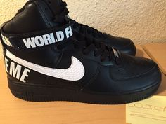 Supreme x Nike Air Force 1 High Black (3)