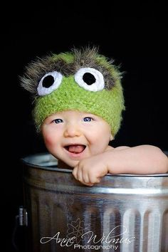 Oscar the Grouch baby picture-love this                                                                                                                                                                                 More