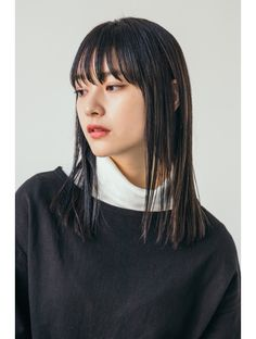 Hairstyle Look, Hairstyles With Bangs, Girl Hairstyles, Medium Hair Styles, Natural Hair Styles, Short Hair Styles, Long Hair With Bangs, Salon Style, Hair Images