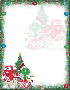 Stationary Printable Christmas Border Page Borders Wallpaper Note Taking
