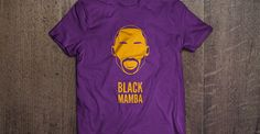 "Purple and gold ""Black Mamba"" shirt for Kobe Bryant of the NBA LA Lakers. (tshirt design by DimesAlign)"