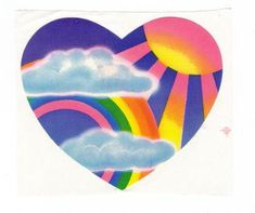 Vintage 1983 Lisa Frank Large Sun Rays and Rainbow Heart Sticker 3 inch Star Stickers, Cute Stickers, Picture Wall, Photo Wall, Lisa Frank Stickers, Wall Collage, Wall Art, Art Design, Art Inspo