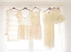 Hang clothes from the curtain rail