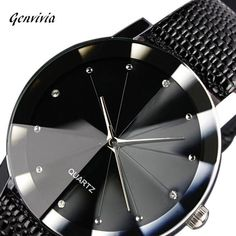 Mens Luxury Quartz Sport Military Stainless Steel Dial Leather Band Wrist Watch in Jewelry & Watches, Watches, Parts & Accessories, Wristwatches Best Watches For Men, Luxury Watches For Men, Women's Dress Watches, Black Quartz, Stainless Steel Watch, Sport Watches, Watch Brands, Fashion Watches, Men Stuff