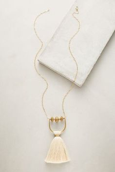 Umbrella Tassel Necklace | Anthropologie