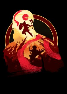 Father and Son, a t-shirt by chrisdalida at UmamiTees Kratos God Of War, Good Of War, War Tattoo, Fan Art, Video Game Art, Father And Son, Print Artist, Cool Artwork, Fantasy Art