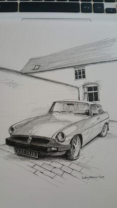 Home - Sally Atkins Pencil Shading, Atkins, Sally, Automobile, Illustrations, Portrait, Prints, Car, Motor Car
