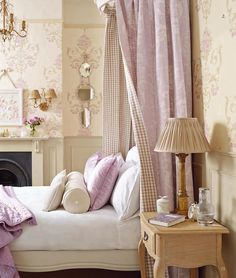 Find sophisticated detail in every Laura Ashley collection - home furnishings, children's room decor, and women, girls & men's fashion. Home Bedroom, Bedroom Decor, Bedroom Ideas, Laura Ashley Home, Shabby Chic Bedrooms, Vintage Bedrooms, Beautiful Bedrooms, Bedroom Romantic, Home Furnishings