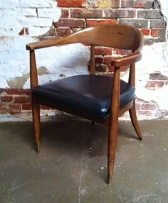 Vintage mid century modern Boling arm chair barrel by VintaDelphia