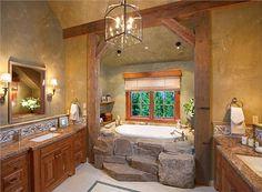 HomePortfolio's Most Popular Bathroom Designs of 2013 - Homey Country/Rustic Bathroom by Lynette Zambon & Carol Merica on HomePortfolio
