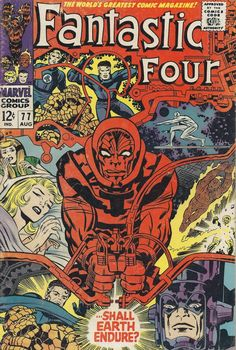 1968: Behold the epic Marvel cover art of Jack Kirby | comic art inspiration | digital media arts college | www.dmac.edu | 561.391.1148