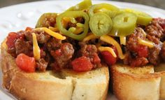 This is no ordinary Sloppy Joe; it's a Texas Sloppy Joe! Combined with BBQ sauce, jalapeno peppers, and garlic Texas toast