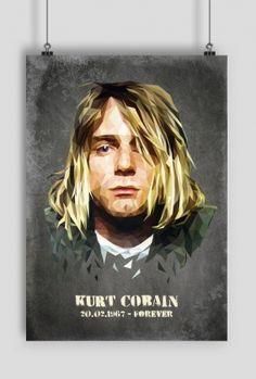 Plakat Kurt Cobain, poster grunge, shop online