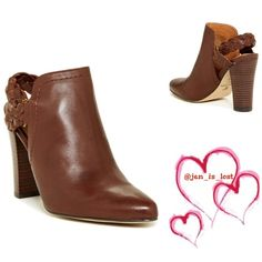 """Final PriceCorso Como Bootie This brand is simply known for their comfortable wear with their gorgeous shoes!  These booties have a braided back with a 4"""" heel.  Fit is true to size,. These are real leather (Nappa leather upper, leather and micro suede upper and man are sole). Color is Chestnut. Supper comfy!  New in box! No Trades ✅ Offers Considered*✅ *Please use the blue 'offer' button to submit an offer. Corso Como Shoes"""