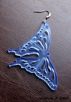 Farfalla Orecchino Plexiglass Butterfly Plexiglass Earrings