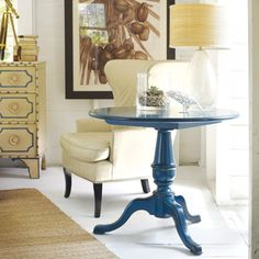 """Somerset Bay Cape Neddick End Table Comes in a Wealth of Scrumptious Finish Options....I'm partial to """"Cotton Candy"""" and """"Key Lime!"""""""