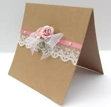 vintage lace and ribbon wedding invitations - Google Search
