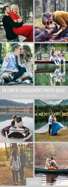 Forest Engagement Photos For Those Who Love Nature ❤ If you like the endless trails, shady green woods and chirping birds than you can try to create forest engagement photos. See more: http://www.weddingforward.com/forest-engagement-photos/ #wedding #forest #engagement #photos