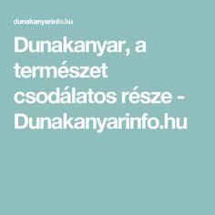 Dunakanyar, a természet csodálatos része - Dunakanyarinfo.hu