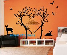 Vinyl Wall Decal Nature Design Tree Wall Decals Wall stickers Nursery wall decal wall art------LOVE TREE
