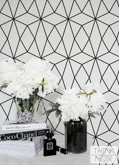 Fond amovible géométrique minimaliste / auto par ThinkNoirWallpaper