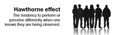 The Hawthorne Effect and tips/strategies for how to apply it