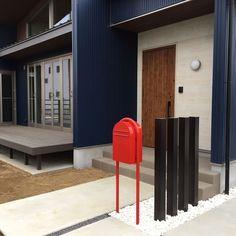 Entrance/入居前/ウッドデッキ/ガルバリウム/ニチハ/BOBI ポストのインテリア実例 - 2017-03-31 13:53:26
