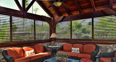 """Plantation Shutters are """"framed furniture for your windows"""". Style: Has sustained design changes and fads through the years. Oklahoma Shutters provides a full line of window coverings, shutter, shades, blinds. Bermuda Shutters, Bahama Shutters, Outdoor Shutters, Outdoor Blinds, Four Seasons Room, Budget Blinds, House Shutters, Outdoor Living, Outdoor Decor"""