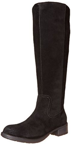 Clarks Women's Swansea Place Western Boot, Black Suede, 6.5 M US - http://shopping-craze.com/2016/05/13/clarks-womens-swansea-place-western-boot-black-suede-6-5-m-us/