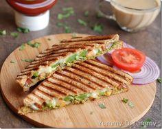 Chutney cheese sandwich