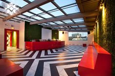 Red Door, Houston TX. Interior design by Laura U. #Houston #Lounge