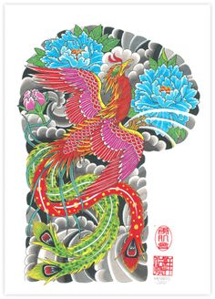 phoenix japanese print - Google Search