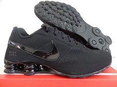 700edcdf04b Nike Shox Deliver All Black TLX R4 Men Trainer 317547 034 Running Shoe Sz 9  5