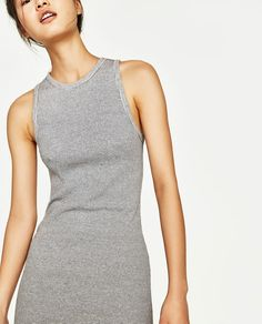 Discover the new ZARA collection online. The latest trends for Woman, Man, Kids and next season's ad campaigns. Ribbed Dress, Zara United States, New Dress, Basic Tank Top, Latest Trends, Tank Tops, Midi Dresses, Collection, Women
