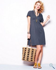 This is a great summer dress. You can dress it up or down...price is right also. Garnet Hill