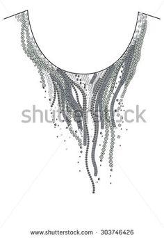 Embroidery Neckline Fotos, imagens e fotografias Stock   Shutterstock
