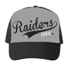 3524fb7cc58 Oakland Raiders Raiderette Football Trucker Hat Black Trucker Hat
