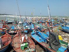 Fishing boats, harbour Hua Hin