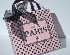 Bolsas de favor de partido de París en rosa por SandysCandyBags