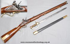 Baker Rifle. Designed by English gunsmith Ezekiel Baker the Baker Rifle was a 0.625 cal (15.9mm) black powder, muzzle loading flintlock musket in service with the British army from 1801 - 1837.