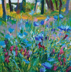 ELLEN DITTEBRANDT - Flowers, Blue Garden