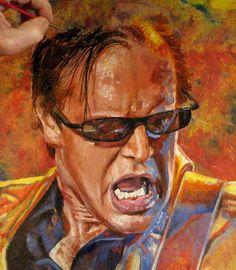 Artprints for purchase - Tom Noll Rock Artwork William Christopher, Joe Bonamassa, Guitar Collection, Blue Art, Psychedelic Art, Concert Posters, Funny Art, Rock Art, Music Artists