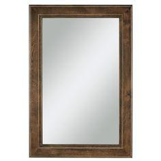 The Awesome Web Diamond FreshFit Webster x Mink Espresso Rectangular Framed Bathroom Mirror