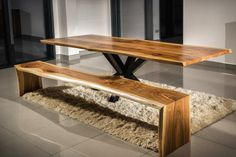 #table walnut by www.drewbetex.pl
