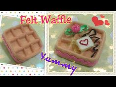 Felt craft tutorial, diy felt waffle tutorial不織布手工教學:不織布格仔餅 - YouTube