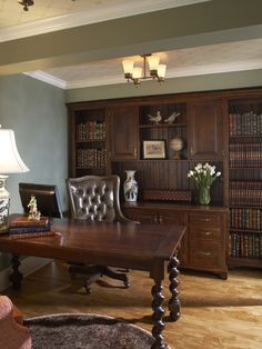 Updated English Home Office  Designed by Christine Sutphen, ASID, NCIDQ