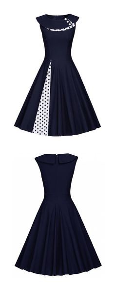 New vintage style dresses casual patterns 36 Ideas Robes Vintage, Vintage Dresses 50s, 50s Dresses, Retro Dress, Pretty Dresses, Vintage Outfits, Short Dresses, Fashion Dresses, Rockabilly Dresses