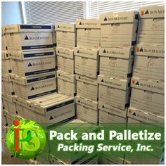 Pack and Palletize your machinery, antique furniture, and large amount of boxes. Hire Packing Service, Inc. to handle any and all aspects of your upcoming relocation process. www.PackingServiceInc.com 888-722-5774